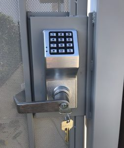 Keypad with Lock installed by Andy the Locksmith